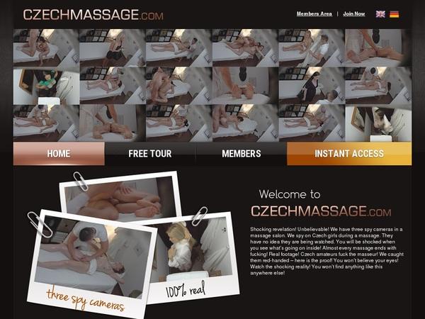 Czech Massage Accounts Working