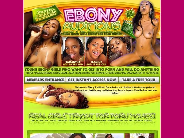 Ebony Auditions Nude