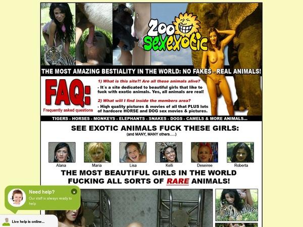 Free Zoosexexotic Account Passwords