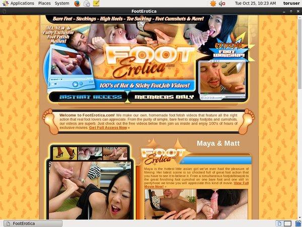 How To Get Foot Erotica Account