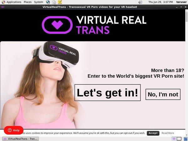 Virtual Real Trans 注册帐号