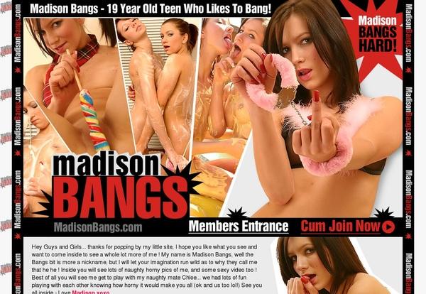 Account On Madison Bangs