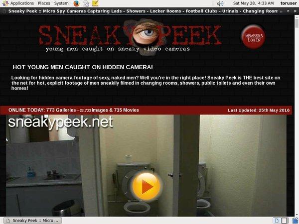 Sneaky Peek Free Members