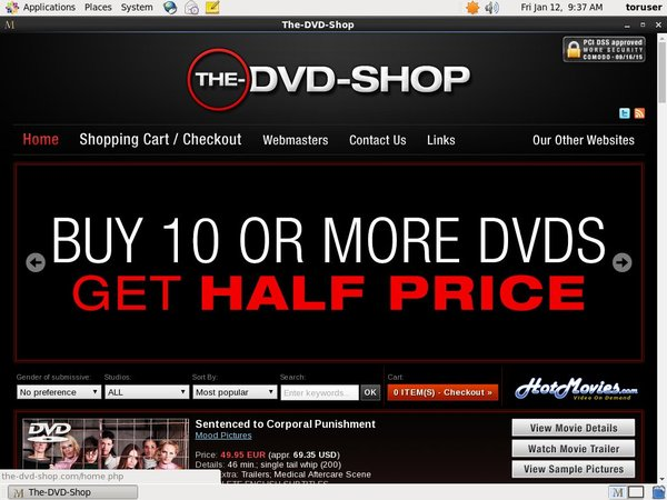 The DVD Shop Paswords